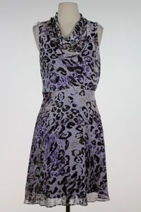 Andrew Marc Marc Ny Womens Animal Print Sleeveless Sheath Dress