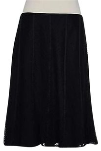 Ann Taylor Womens Solid Skirt Black