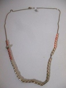 Ann Taylor Ann Taylor Rose Gold Gold Bead Crystal Fireball Motion Snake Necklace