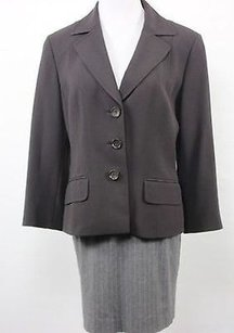 Ann Taylor Ann Taylor Womens Black Blazer Long Sleeve Basic Jacket Polyester