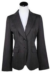 Ann Taylor Ann Taylor Womens Brown Striped Blazer Wool Basic Jacket Career