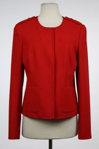 Ann Taylor Womens Basic Red Jacket