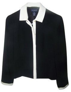 Ann Taylor Black with white trim Blazer