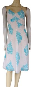 Ann Taylor short dress Ivory Cotton Swiss Dot Floral on Tradesy
