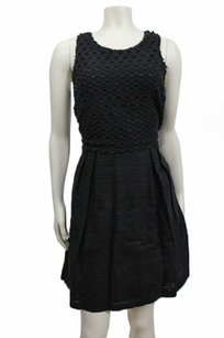 Ann Taylor LOFT Eyelet Embroidered Front Blouson Dress
