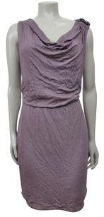 Ann Taylor LOFT Lavender Draped Neck Blouson Stretch Dress