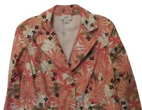 Ann Taylor LOFT Daisy Cotton Twill Like New Inset Waist Off-white, Pink, Tan, Taupe, Black Blazer