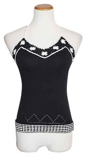 Ann Taylor LOFT Black/ White Halter Top