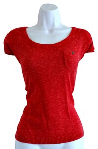 Ann Taylor LOFT Linen Sleeveless Sweater Knit Top Red