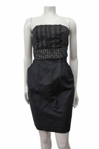 Ann Taylor LOFT Lace On Bust Strapless Sheath Dress