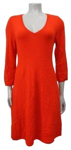 Ann Taylor LOFT short dress Red Orange Bright Swing Mini Sweater on Tradesy