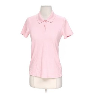 Ann Taylor Polo Shirt Top Pink