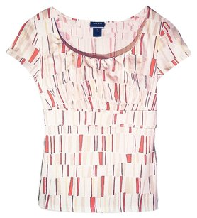 Ann Taylor T Shirt Multicolor (White, Red, Beige)