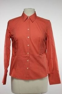 Ann Taylor Womens Petites Top Orange
