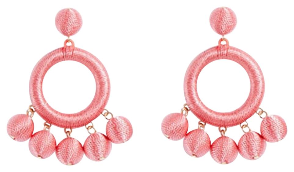 ANN TAYLOR Wrapped Ball Drop Statement Earrings