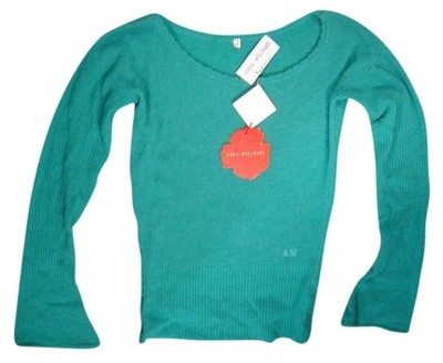 Preload https://item2.tradesy.com/images/anna-molinari-teal-italy-ls-knit-us10-euro44-msrp-new-sweaterpullover-size-10-m-387561-0-0.jpg?width=400&height=650