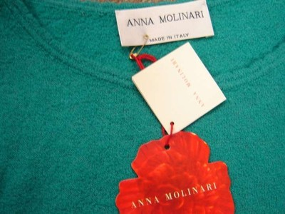 Anna Molinari Knit Long Sleeve Sweater