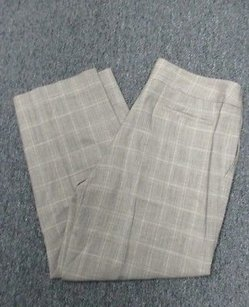 Anne Klein Plaid Straight Leg Dress Sm5720 Pants