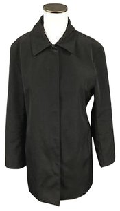Anne Klein Womens Casual Front Button Long Pockets 3891a Raincoat