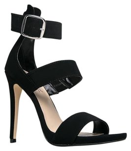 Anne Michelle 30heelsale Black Sandals