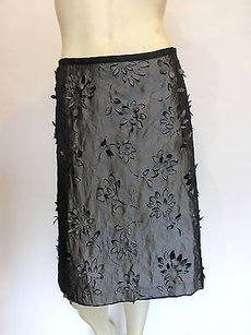 Anni Kuan Floral 440 Skirt black,silver