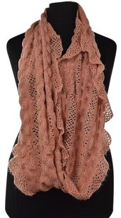 Anthropologie Sleeping On Snow Womens Pink Infinity Scarf One Metallic Textured