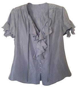 Anthropologie Button Down Shirt Light Blue