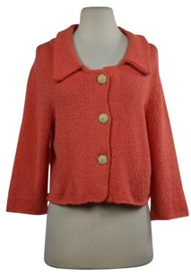 Anthropologie Moth Womens Cardigan Cotton 34 Sleeve Casual Shirt Sweater