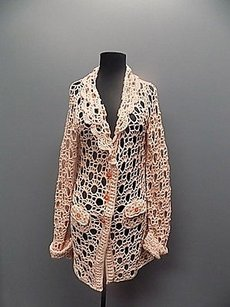 Anthropologie Moth Loose Knit Button Sweater