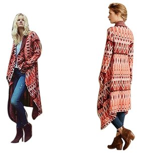Anthropologie Jacquard Blanket Cardigan By Sweater