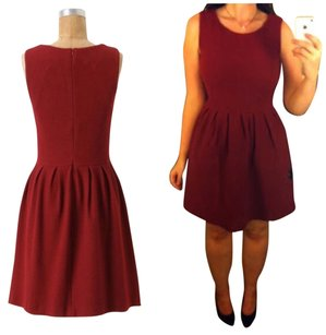 Anthropologie short dress Burgundy on Tradesy