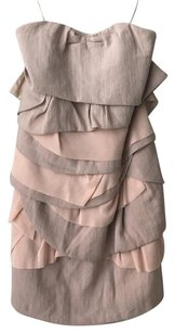 Anthropologie Strapless Muted Layered Dress