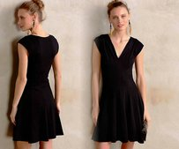 Anthropologie short dress Black Fit And Flare on Tradesy