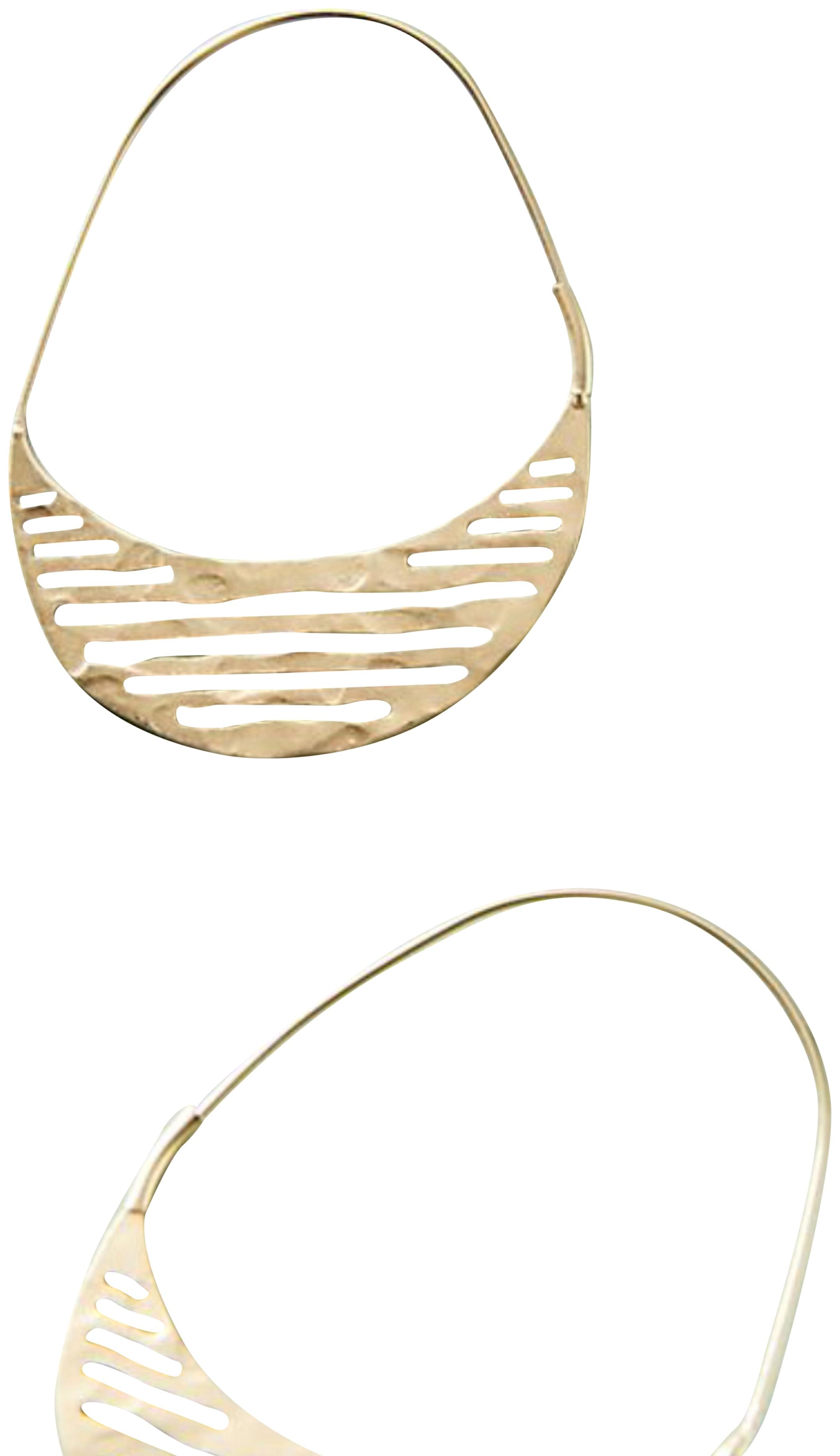 Anthropologie Striped Demi-Hoop Earrings d4bH1AER