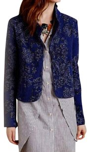 Anthropologie Jacquard Super NWT Blue Motif Jacket