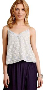 Anthropologie Metallic Areas Subtle Glisten Top NWT Lavender