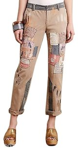 Anthropologie Pilcro Hyphen Patched Chinos Pants
