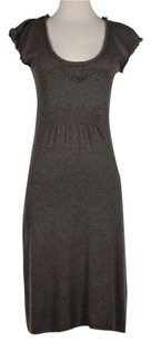 Anthropologie Knitted And Knotted Womens Speckled Sheath Wool Blend Dress