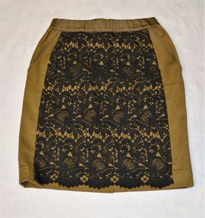 Anthropologie A3 Maeve Pencil Skirt Brown