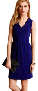 Anthropologie short dress NWT Blue Textured Fabric on Tradesy
