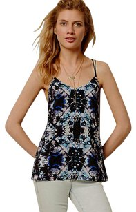Anthropologie Tie-dye Strappy Top NWT Black