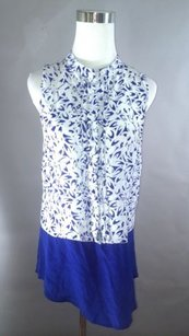Anthropologie By Maeve Silk Top Blue