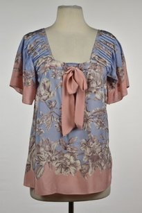 Anthropologie Lil Womens Top Blue