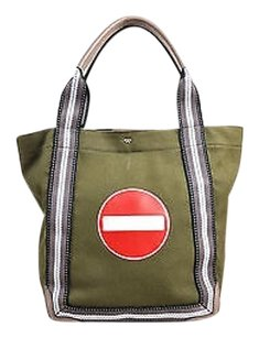 Anya Hindmarch Olive Canvas Tote in Green