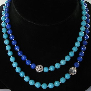 Anzie Anzie Boheme Star Peace Long Necklace Turquoise Lapis White Topaz 925