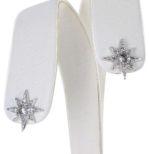 Anzie Anzie Mini Aztec Starburst Stud Earrings White Sapphire Topaz 925