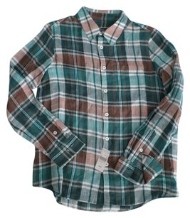 A.P.C. Button Down Shirt Plaid Multi