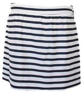 A.P.C. Striped Mini Mini Skirt Navy, White