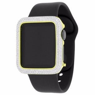 Apple Gold Tone Custom Apple Watch Simulated Diamond 1st Generation Ios Touch Black