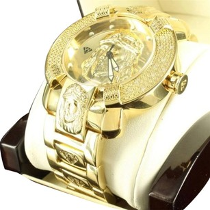 Aqua Master 14k Yellow Gold Finish Jesus Christ Dial Diamond Maxx Aqua Master Jojo Watch